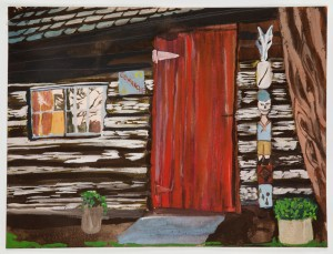 """Comanche Cabin"", 2011, watercolor on paper, 12 x 16 inches"