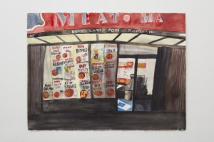 """Meat Ma,"" 2016, watercolor on paper, 22.5 x 30 inches"